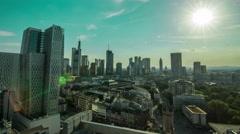 Frankfurt Skyline 4k Timelapse Stock Footage