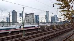 Timelapse Frankfurt Hauptbahnhof Stock Footage
