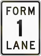 Road sign in the Philippines - Form 1 Lane - stock illustration