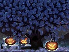 Stock Illustration of Halloween night oak