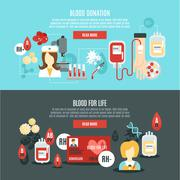 Blood Donor Banner - stock illustration