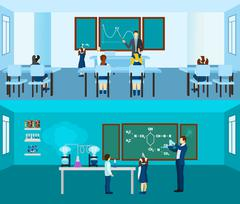 Teacher Banner Set Stock Illustration