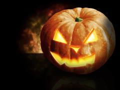 Scary pumpkin - stock illustration