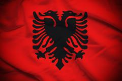Albania Flag - stock photo