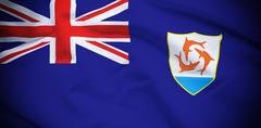 Stock Photo of Anguilla Flag