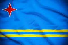 Aruba Flag - stock photo