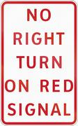 Road sign in the Philippines - No Right Turn on Red Signal - stock illustration