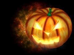 Scary Halloween Pumpkin Stock Illustration