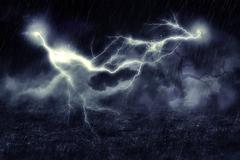 Storm over Field Stock Illustration