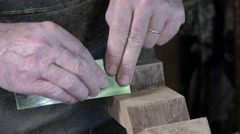 Carpenter working in his workshop Stock Footage