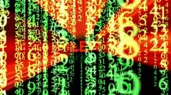 Matrix alert concept Stock Footage