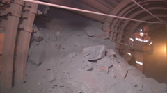 Extracting ore miner Stock Footage