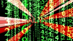 Matrix analysis concept Stock Footage