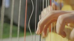 Harp Slowmotion Close Up Stock Footage