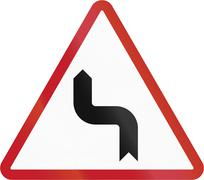 Road sign in the Philippines - Reverse Turn - stock illustration