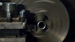 Machine milling metal tube Stock Footage
