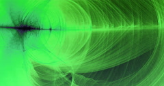 Abstract Green Lines Curves And Particles Stop Motion Stock Footage