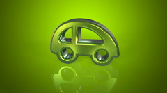 Car concept green background Stock Footage