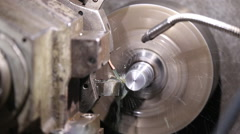 programmable lathe work - stock footage