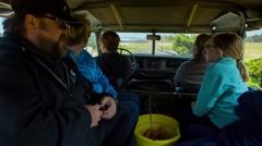 B Bryan Preserve safari car tour interior 2 Stock Footage