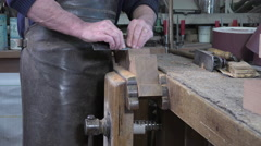 Carpenter at work Stock Footage