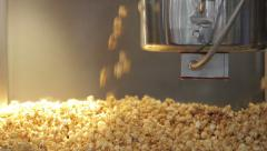 Popcorn machine in the cinema theatre - stock footage