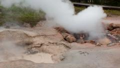 Time lapse Bubbling Red Spouter Mud Pot, Yellowstone National Park, Wyoming Stock Footage
