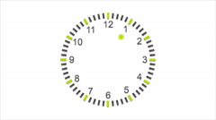 Abstract flat wall clock video animation Stock Footage