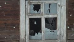 Broken windows Stock Footage