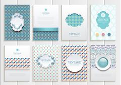 Stock Illustration of Stock vector set of brochures in vintage style