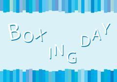 Blue Background of Boxing Day Shopping for Start Christmas Shopping Season. - stock illustration