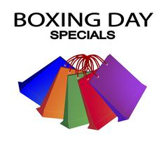 Stock Illustration of Colorful Paper Shopping Bags for Boxing Day Special