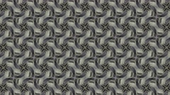 Abstract gray kaleidoscope with flowery shade or shape Stock Footage