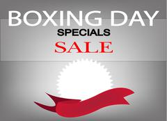 Beautiful Background of Colorful Wording of Boxing Day Special Sale and Blank - stock illustration