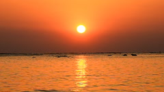 Amazing sunset over the tropical beach Stock Footage