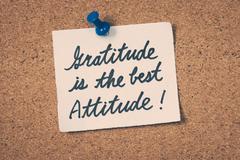 Gratitude is the best attitude Stock Photos