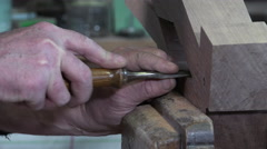 Carpenter in his workshop Stock Footage