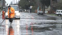 Portland Oregon Flooded City Streets Stock Footage