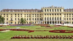 Schonbrunn Palace In Vienna Stock Footage