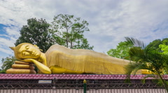 Stock Video Footage of Golden Buddha statue nirvana Attractions