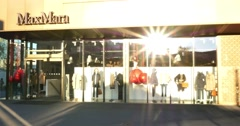 Unidentified People Walk Near Max Mara Shop 4k Stock Footage