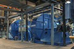 Electric Industrial generator Stock Photos