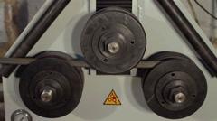Metal Bending Machine working Stock Footage