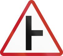 Road sign in the Philippines - Side Road Junction - stock illustration