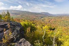 Colorful Catskills Viewpoint - stock photo