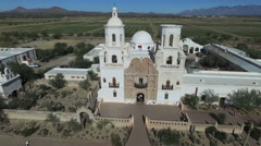 San Xavier Mission- Catholic Mission in Tuscon Arizona Stock Footage