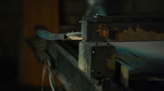 Industrial laser or plasma cutting steel Stock Footage