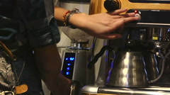Cafe. Coffee brewing 12. Grinding coffee Stock Footage