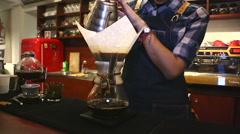 Cafe. Chemex Coffee brewing 16 Stock Footage