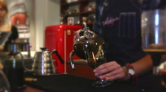 Cafe. Coffee brewing 9 Stock Footage